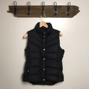 J Crew Puffer Vest Down Filled Black Medium